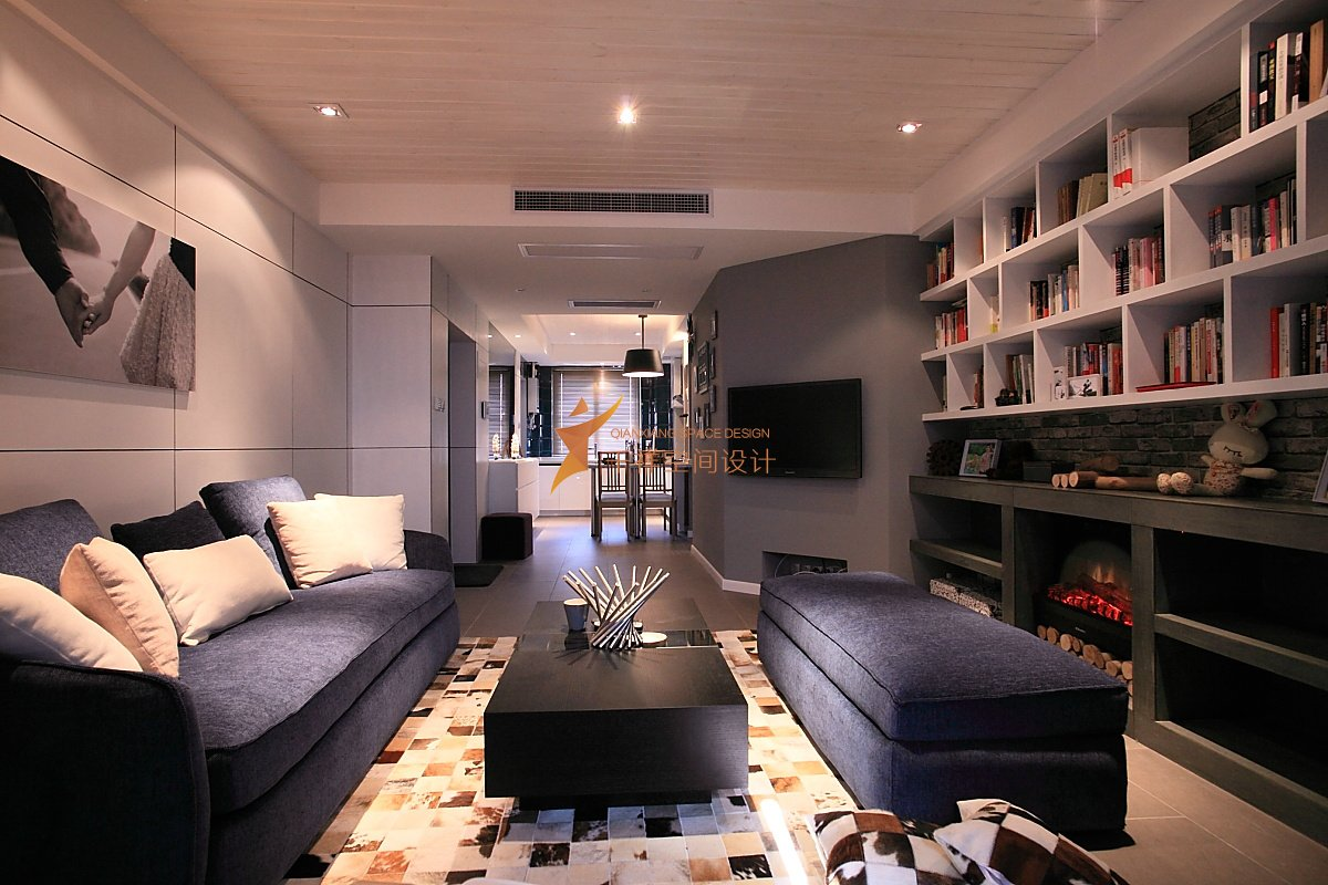 浦东新区三房两厅极简现代风格装修