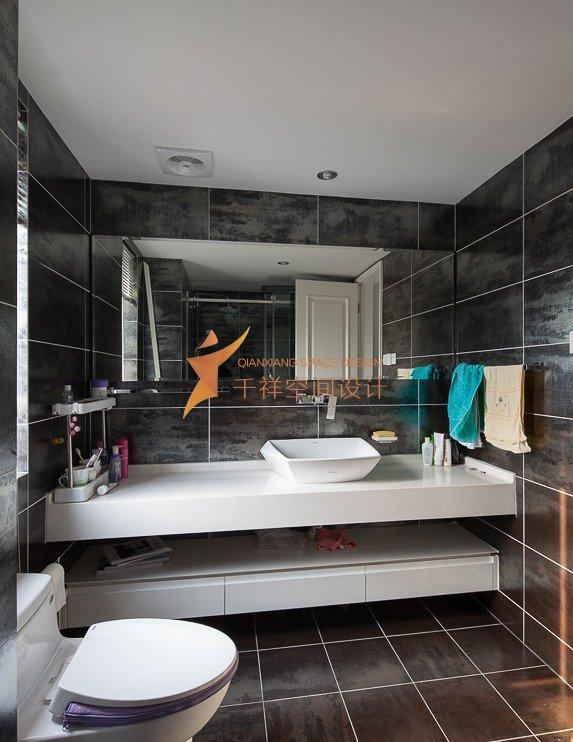嘉定区三房两厅简约黑白灰风格装修设计