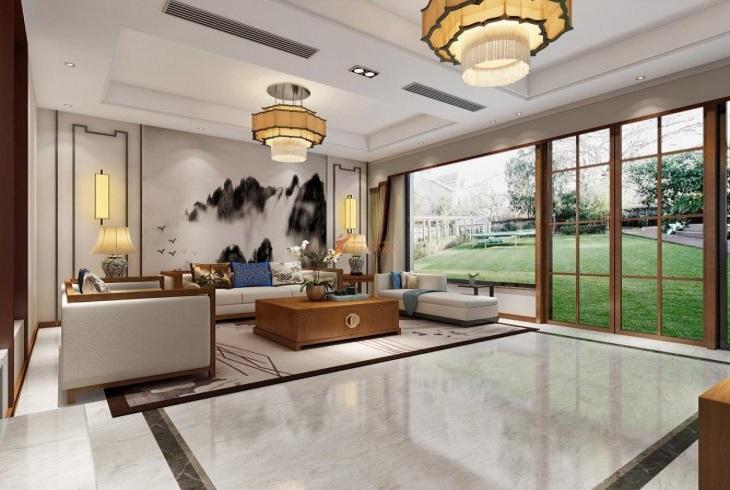 浦东新区万科第五园别墅简中式风格装修设计