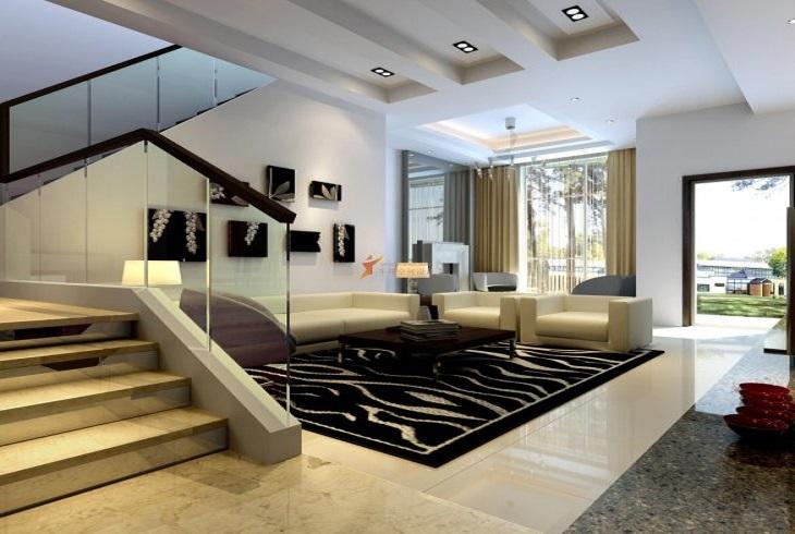闵行区复地北桥城现代简约风格别墅装修设计