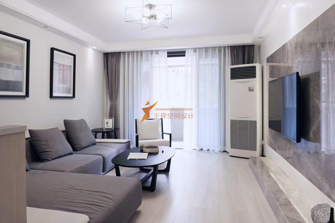 闵行区三房两厅现代简约黑白灰风格装修设计