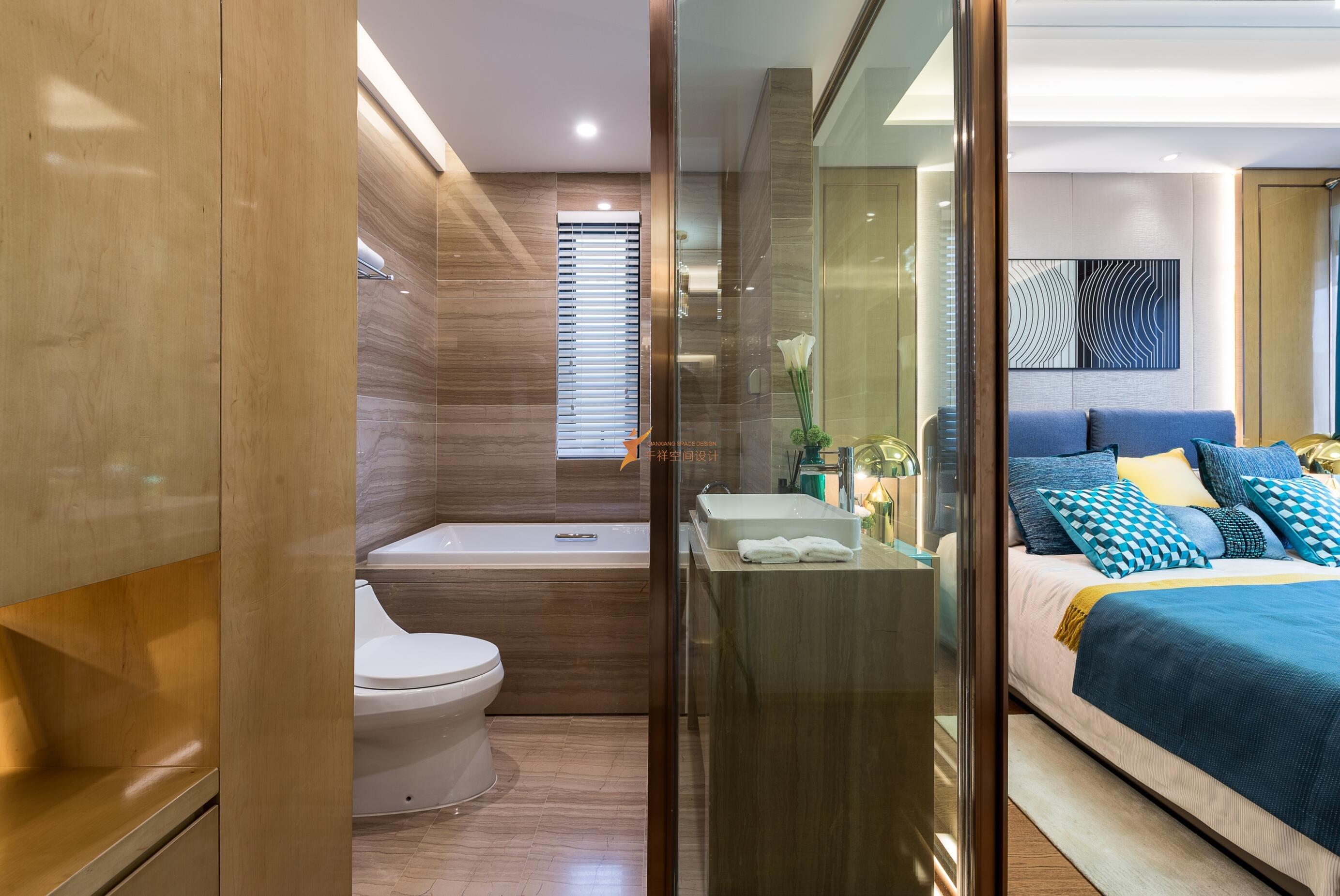 卧室及主卫生间装修设计实景照片图——上海千祥空间设计有限公司设计