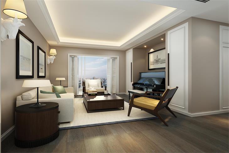 青浦区中建锦绣天地简美三房两厅装修设计