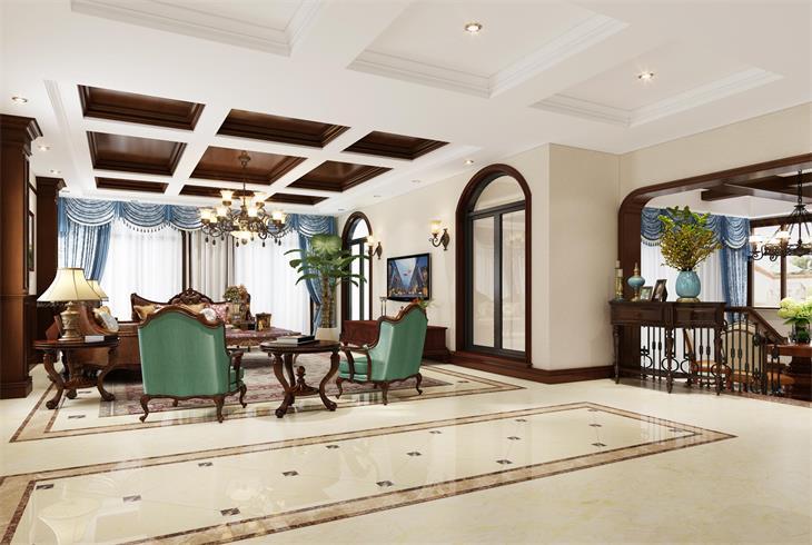 浦东新区尼德兰北岸美式别墅装修设计