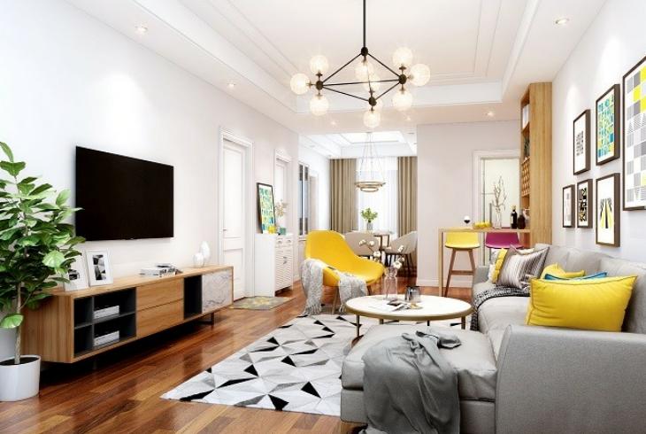 浦东新区广兰路三房两厅北欧风格装修设计