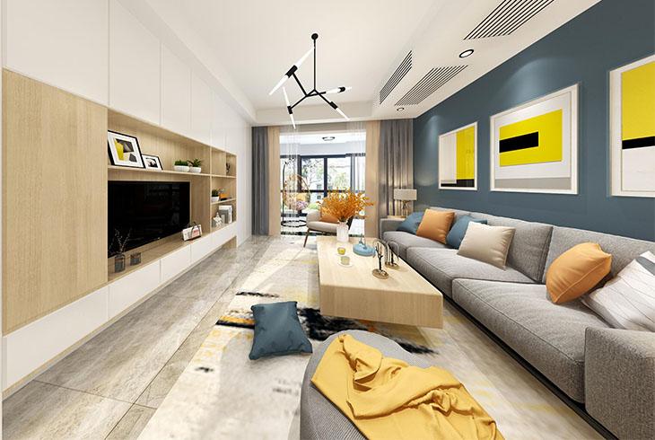 宝山区纬地路三房两厅北欧风格装修设计