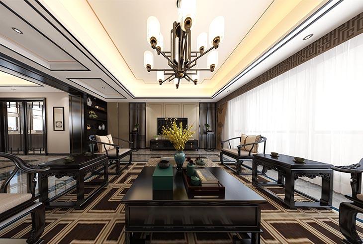 宝山区罗店镇美安路新中式风格别墅设计